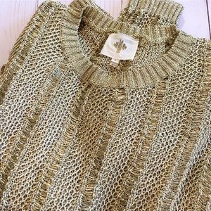 Anthropologie GOLD Sweater - M